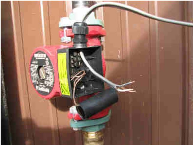 Armstrong pump cover off pump wiring installation