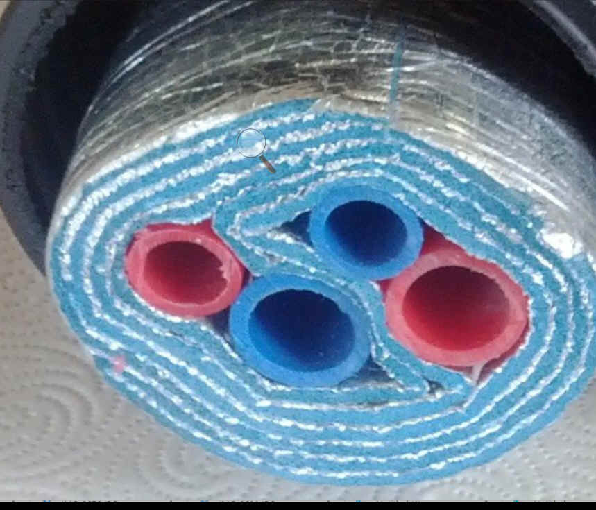 FOUR LINE 5 WRAP Insulated PEX