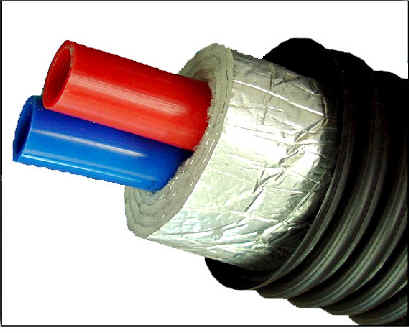 insulated underground pex pipe