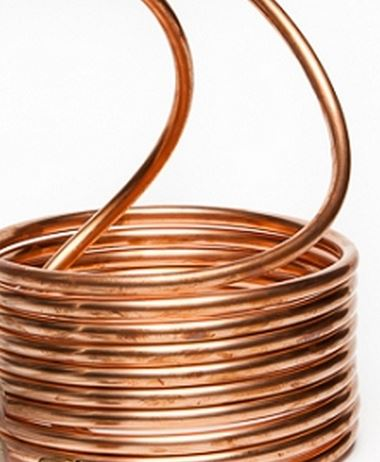 Copper Coil on Hardy Outdoor Wood Furnace Parts