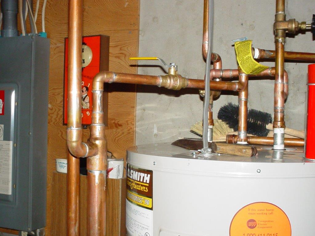 Water heater hook up kit