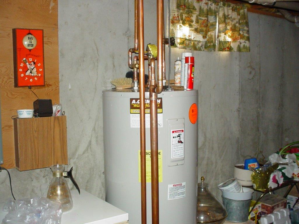 Boiler hot water heater hookups