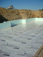 Finiched job The Barrier™ under concrete thermal insulation